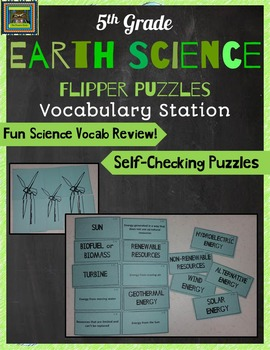 5th Grade Earth Science STAAR Puzzles-Alternative Energy,