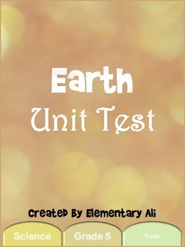 Earth Unit Test (STAAR)