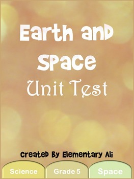 Earth and Space Unit Test (STAAR)
