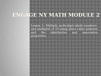 5th Grade Engage NY Math Module 2 Lesson 1