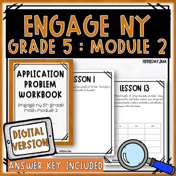 5th Grade Engage NY Module 2 Application Problem Workbook
