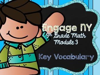 5th Grade EngageNY/Eureka Math - Module 3 Key Vocabulary D