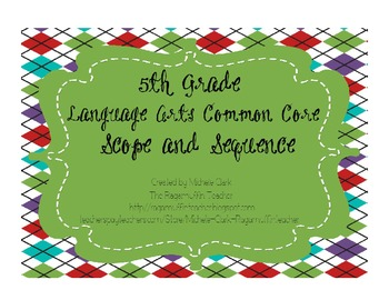 5th Grade English Language Arts Common Core Scope and Sequence