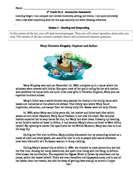 5th Grade English Language Arts Mixed Skill Test