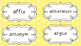 5th Grade English Language Arts Word Wall Cards for Academ