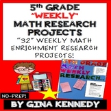 5th Grade Math Enrichment Weekly Research Projects!