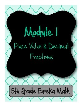 5th Grade Eureka/Engage NY Binder Front and Back Covers wi