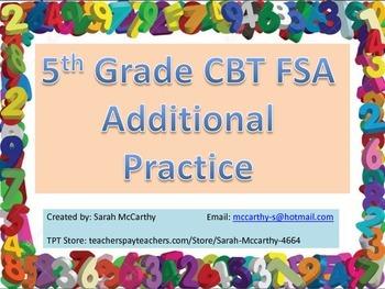 5th Grade FSA CBT More Practice Problems
