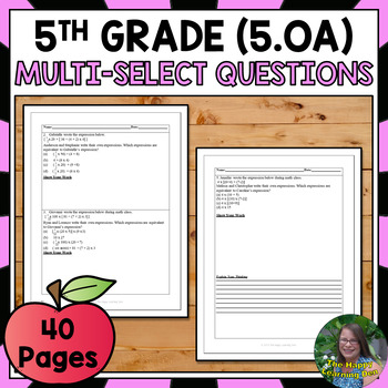 FSA Practice: Multi-Select Ques. Operations + Algebraic Th