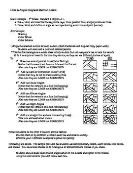 5th Grade Geometry Line Art Lesson