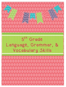 5th Grade Language, Grammar, and Vocabulary Skills Book