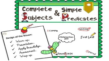 "PPT Grammar Lesson 4 ""Complete and Simple Subjects and Pre"