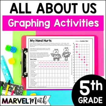 5th Grade Graphs and Data Book: Scatterplot, Stem-and-Leaf