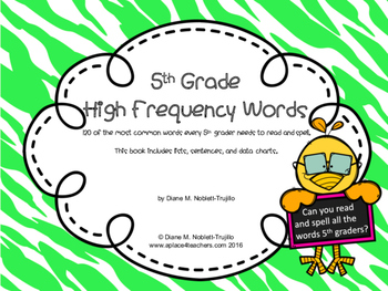 5th Grade High Frequency Reading and Spelling Words