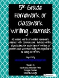 5th Grade Homework/Classroom Writing Journals