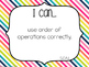 "5th Grade ""I Can"" Statements Bundle: All Standards - Rainb"