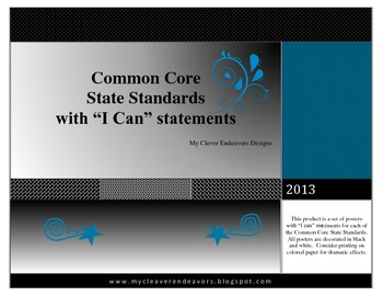 """5th Grade """"I Can"""" statements CCSS (blue)"""