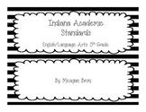5th Grade - Indiana ELA Standards - B&W Striped