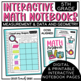 Interactive Notebook - 5th Grade Math - Measurement & Data