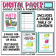 Interactive Math Notebook 5th Grade Measurement & Data and