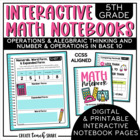 Interactive Notebook - 5th Grade Math - OA & NBT