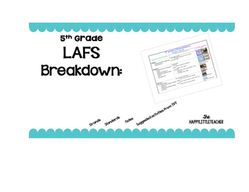 5th Grade LAFS Breakdown