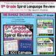 5th Grade Language Assessments or Grammar Quizzes 100% EDITABLE