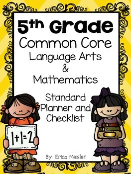 5th Grade Language and Math Common Core Standards Organize