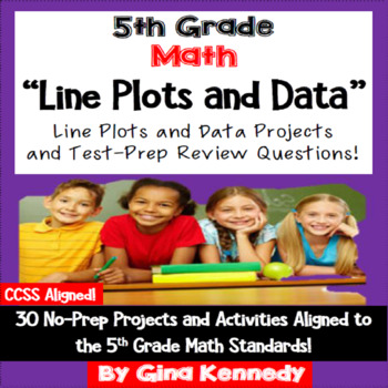 5th Grade Line Plots and Data, 30 Enrichment Projects and