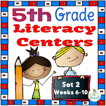 5th Grade Literacy Centers Set 2, {Aligned with Journeys by HMH}