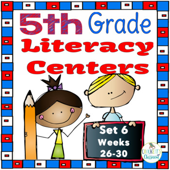 5th Grade Literacy Centers Set 6, {Aligned with Journeys by HMH}