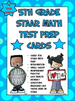 5th Grade MATH STAAR Prep Cards