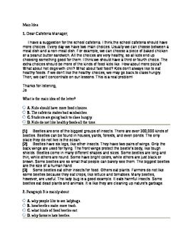 5th Grade Main Idea Common Core Question Set