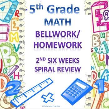 5th Grade Math Bellwork 2nd Six Weeks