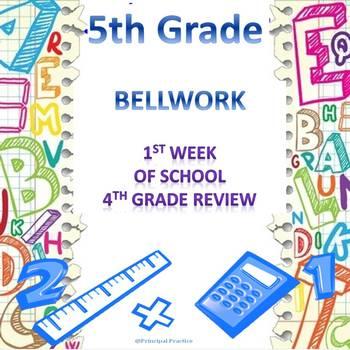 5th Grade Math Bellwork Week 1