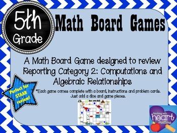 5th Grade Math Board Game- Roar-some Math  (STAAR Aligned)
