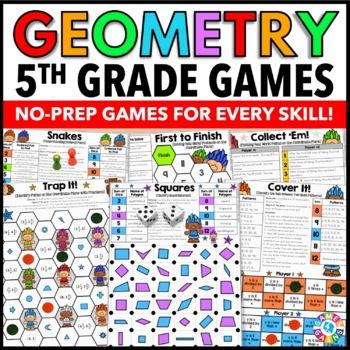 5th Grade Math Centers: 5th Grade Geometry Games {5.G.1, 5