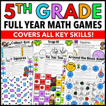 5th Grade Math Centers Bundle: 95 5th Grade Math Games {Save $$}