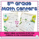 5th Grade Math Centers Fractions & Place Value Bundle