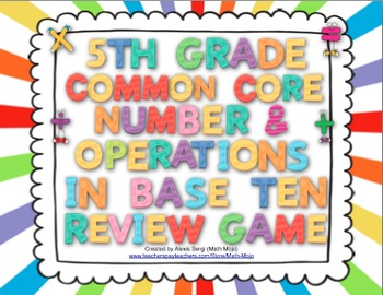 5th Grade Math Common Core Review Game (Number and Operati