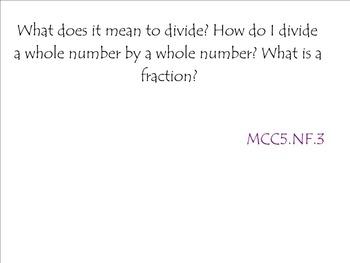 5th Grade Math Common Core Unit: Dividing Fractions