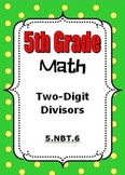 5th Grade Math - Division with 2-digit Divisors - 5.NBT.6