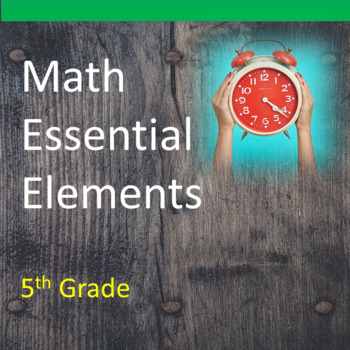 5th Grade Math Essential Elements for Cognitive Disabiliti