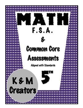 5th Grade FSA Math Assessment - MAFS.5.MD.3.3 a,b & MAFS.5.MD.3.4