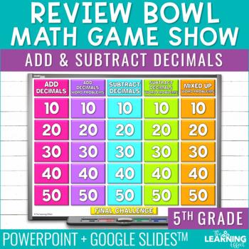 5th Grade Math Game - Add & Subtract Decimals