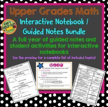 5th Grade Math Interactive Pages & Activities Low Prep Low
