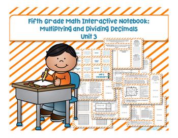5th Grade Math Interactive Notebook Unit 3: Multiplying an