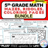 5th Grade Math Mazes, Riddles & Coloring Pages (Fun MATH A