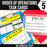Order of Operations - 5th Grade Math Flip & Go Cards