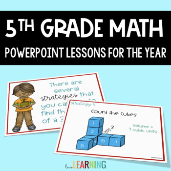 5th Grade Math PowerPoint Lessons for the YEAR